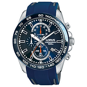 Lorus Men's Chronograph Blue Silicone Strap Watch - Product number 5292883