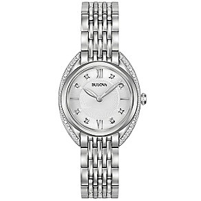 Bulova Diamonds Ladies' Stainless Steel Bracelet Watch - Product number 5293057