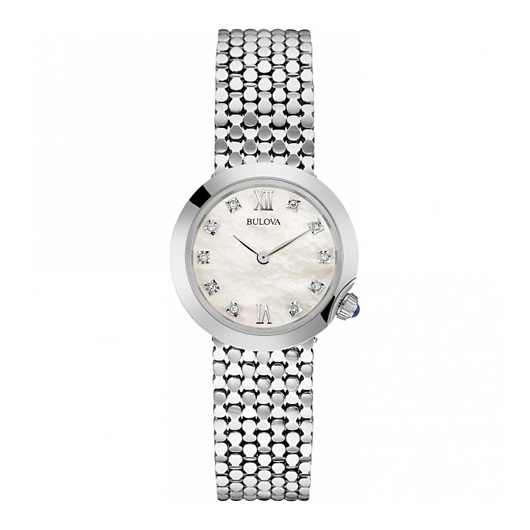 Bulova Diamonds Ladies' Stainless Steel Bracelet Watch - Product number 5293065
