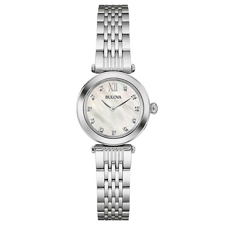 Bulova Diamonds Ladies' Stainless Steel Bracelet Watch - Product number 5293073