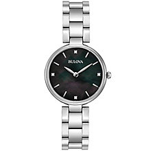 Bulova Diamonds Ladies' Stainless Steel Bracelet Watch - Product number 5293081