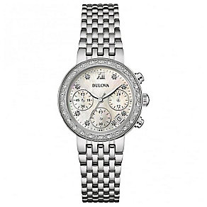 Bulova Diamonds Ladies' Stainless Steel Bracelet Watch - Product number 5293103