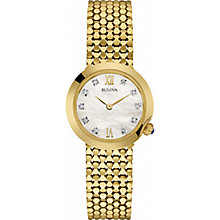 Bulova Diamonds Ladies' Gold-Plated Bracelet Watch - Product number 5293111