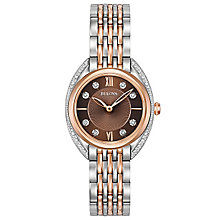 Bulova Diamonds Ladies' 2 Colour Steel Bracelet Watch - Product number 5293146