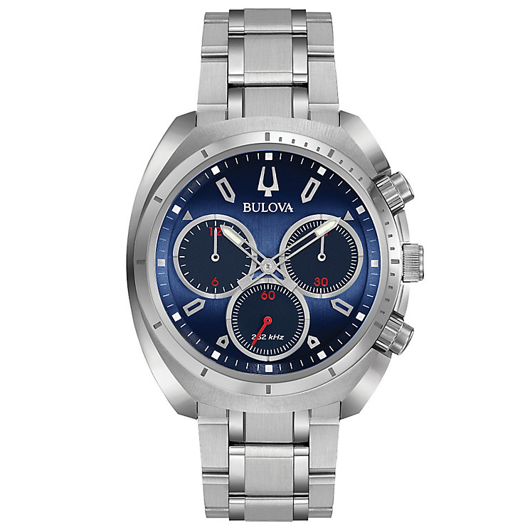 Bulova Curv Men's Chronograph Stainless Steel Bracelet Watch - Product number 5293162