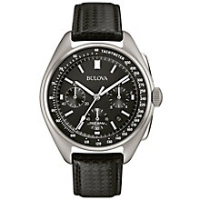 Bulova Moon Men's Black Leather & NATO Strap Watch - Product number 5293197