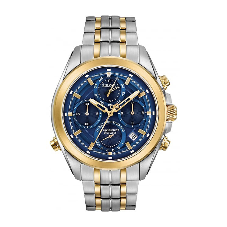 Bulova Precisionist Men's 2 Colour Steel Bracelet Watch - Product number 5293367