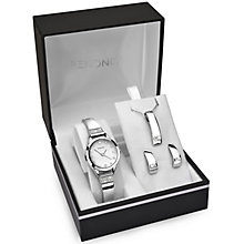 Sekonda Ladies' Silver Tone Bangle Watch, Pendant & Earrings - Product number 5293596