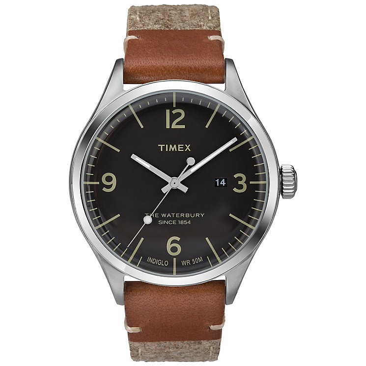 Timex The Waterbury Men's Brown Fabric Strap Watch - Product number 5295157