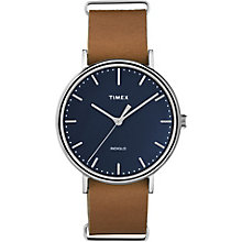 Timex Weekender Fairfield Men's Tan Leather Strap Watch - Product number 5295246