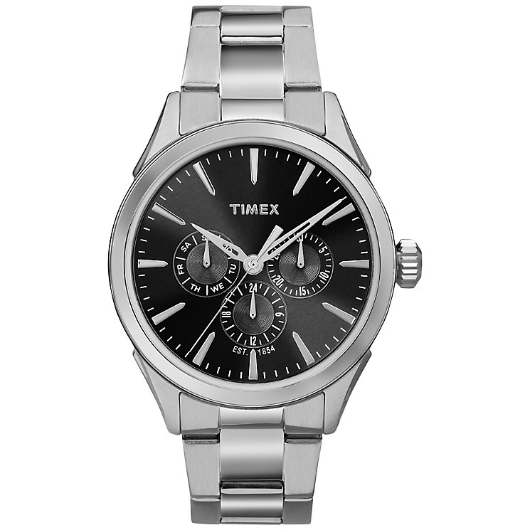 Timex Men's Black Dial Stainless Steel Bracelet Watch - Product number 5295262