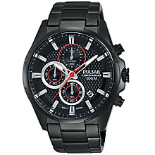 Pulsar Men's Chronograph Black Ion-Plated Bracelet Watch - Product number 5295289