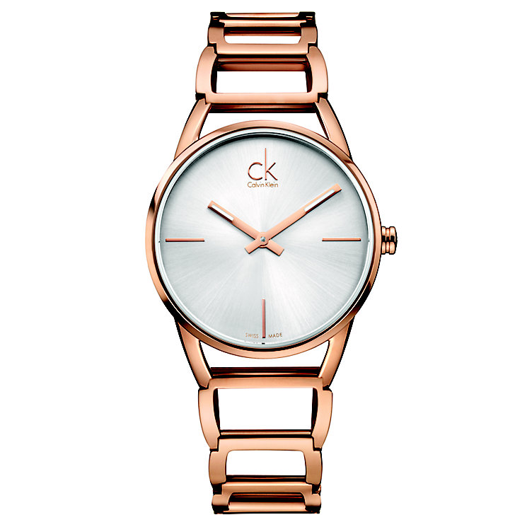 Calvin Klein Stately Ladies' Rose Gold-Plated Bracelet Watch - Product number 5295602