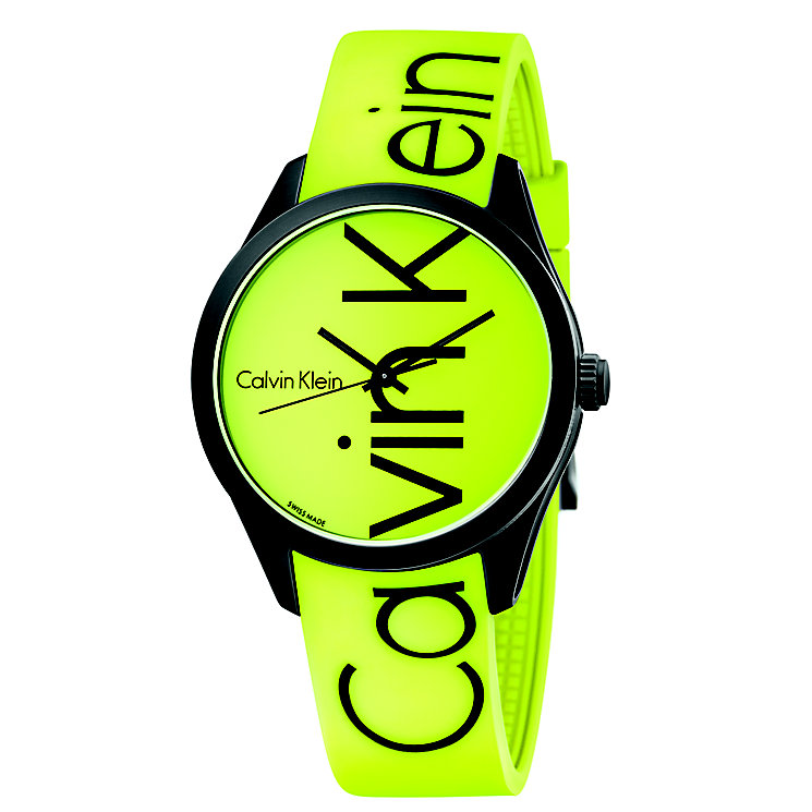 Calvin Klein Color Men's Yellow Silicone Strap Watch - Product number 5296013
