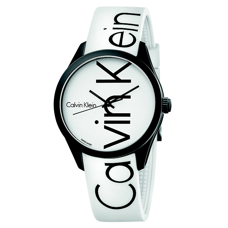 Calvin Klein Color Men's White Silicone Strap Watch - Product number 5296021