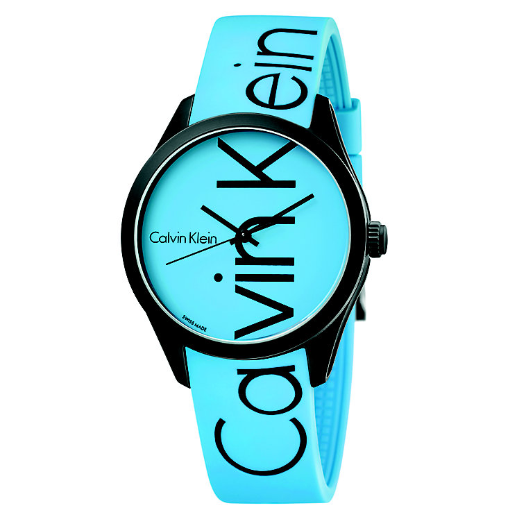 Calvin Klein Color Men's Blue Silicone Strap Watch - Product number 5296048