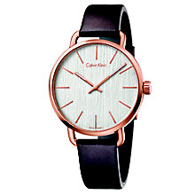 Calvin Klein Even Men's Brown Leather Strap Watch - Product number 5296072