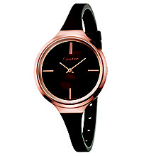 Calvin Klein Lively Ladies' Brown Silicone Strap Watch - Product number 5296161