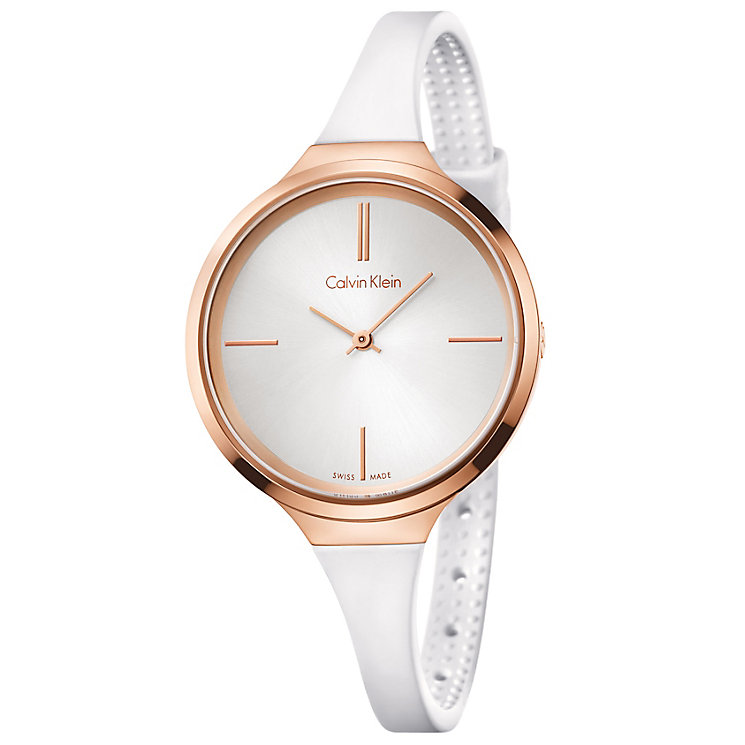 Calvin Klein Lively Ladies' White Silicone Strap Watch - Product number 5296188