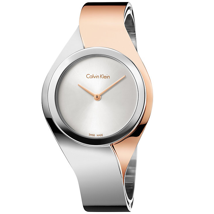 Calvin Klein Senses Ladies' 2 Colour Steel Bracelet Watch - Product number 5296234