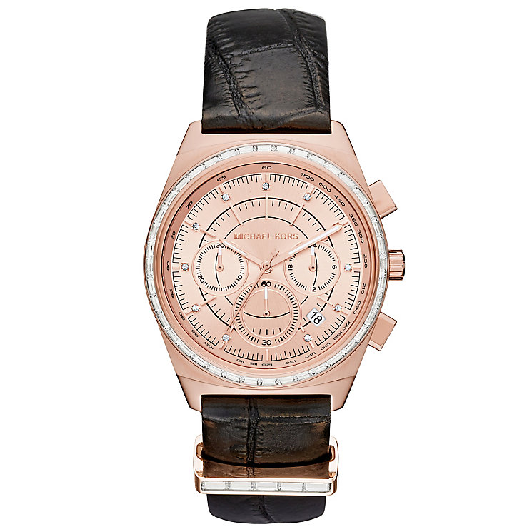 Michael Kors Vail Ladies' Rose Gold Tone Strap Watch - Product number 5296323