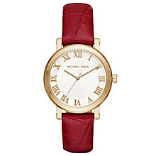 Michael Kors Ladies' Gold Tone Strap Watch - Product number 5296358