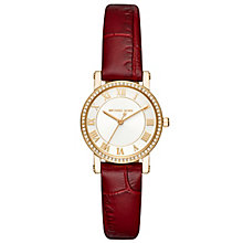Michael Kors Ladies' Gold Tone Strap Watch - Product number 5296382