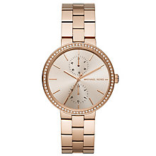 Michael Kors Ladies' Rose Gold Tone Stone Set Bracelet Watch - Product number 5296544