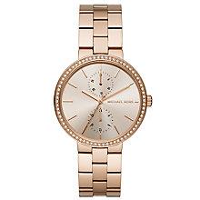 Michael Kors Ladies' Rose Gold Tone Stone Set Bracelet Watch - Product number 5296544