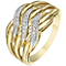 9ct Gold Diamond Set Plaited Eternity Ring - Product number 5297796