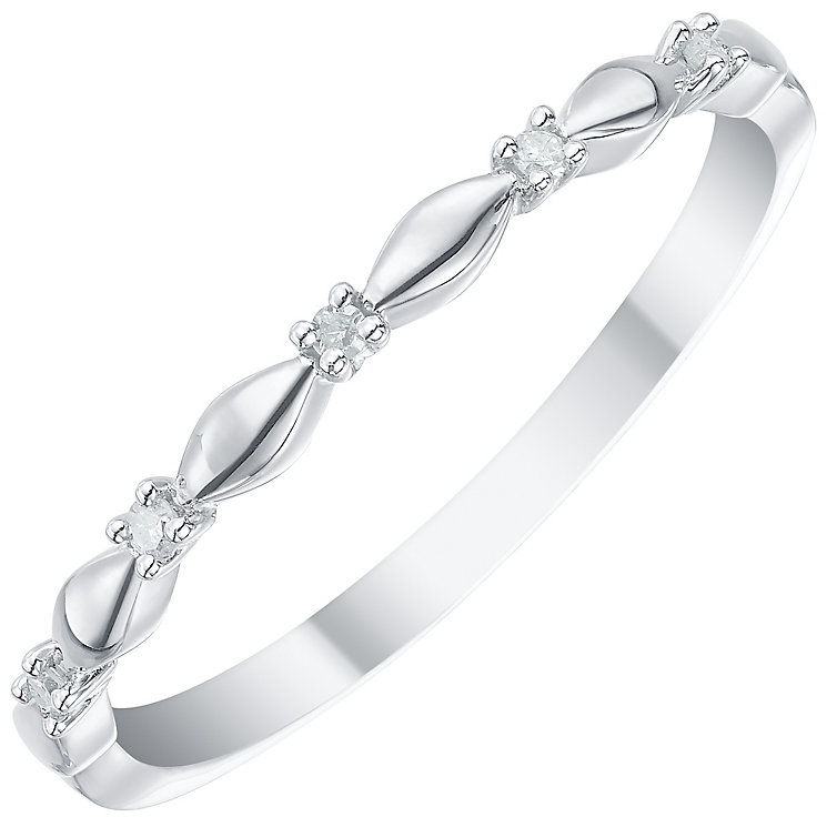 9ct White Gold Diamond Eternity Ring - Product number 5298199