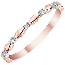 9ct Rose Gold Diamond Eternity Ring - Product number 5298350