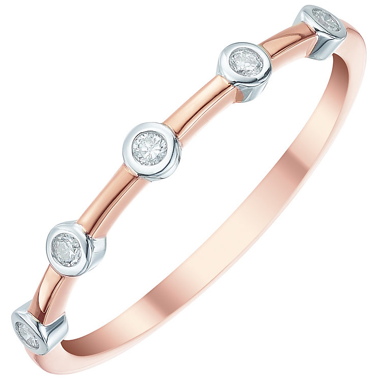 9ct Rose Gold Diamond Eternity Ring - Product number 5298741