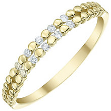 9ct Gold Diamond Double Row Eternity Ring - Product number 5298903