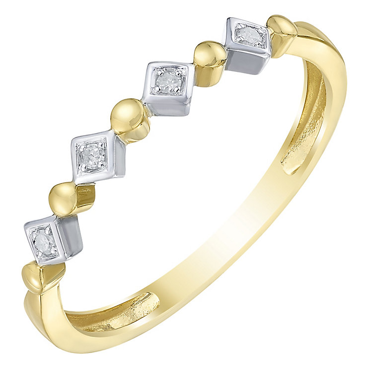 9ct Gold 2 Colour Diamond Eternity Ring - Product number 5299691