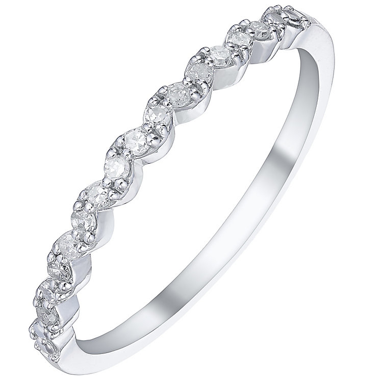 9ct White Gold 0.10 Carat Diamond Eternity Ring - Product number 5299829