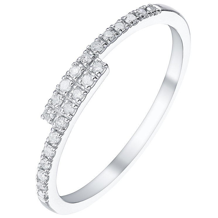 9ct White Gold 0.10 Carat Diamond Eternity Ring - Product number 5300118
