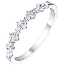 9ct White Gold 0.10 Carat Diamond Cluster Eternity Ring - Product number 5300258