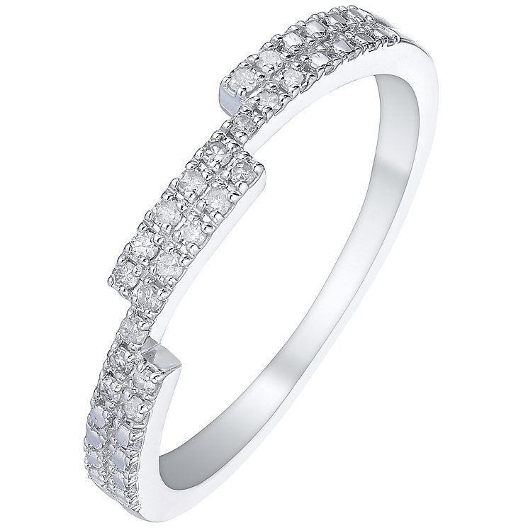 9ct White Gold 0.10 Carat Diamond Eternity Ring - Product number 5300371