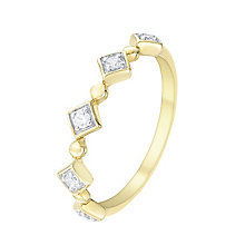 9ct Gold 0.10 Carat Diamond Set Ring - Product number 5300649