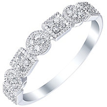 9ct White Gold 0.12 Carat Diamond Eternity Ring - Product number 5300932