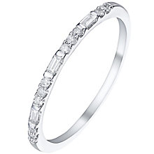 9ct White Gold 0.12 Carat Diamond Eternity Ring - Product number 5301068