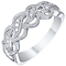 9ct White Gold Diamond Twist Eternity Ring - Product number 5301181