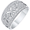 9ct White Gold 1/5 Carat Diamond Eternity Ring - Product number 5301335