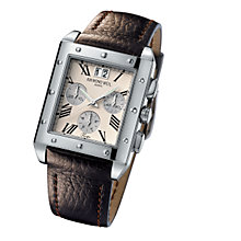 Raymond Weil men's brown leather strap watch - Product number 5301556