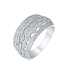 9ct White Gold 0.16 Carat Diamond Eternity Ring - Product number 5301661