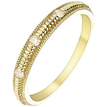 9ct Gold Diamond Set Ring - Product number 5301807
