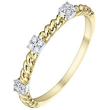 9ct Gold Diamond Cluster Eternity Ring - Product number 5301939