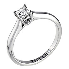 Leo Diamond platinum 0.25ct I-SI2 princess cut ring - Product number 5302714