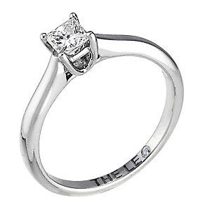 Leo platinum 0.25ct I-SI2 princess cut diamond ring - Product number 5302714
